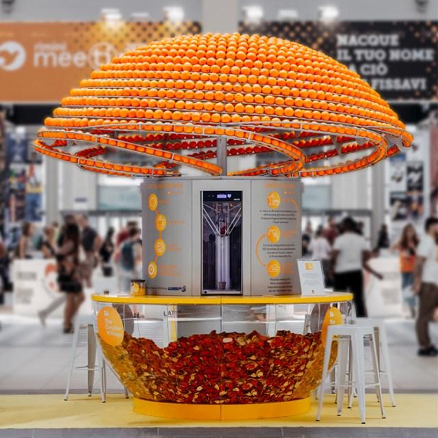 Orange Juicer Turns Peels Into Cups