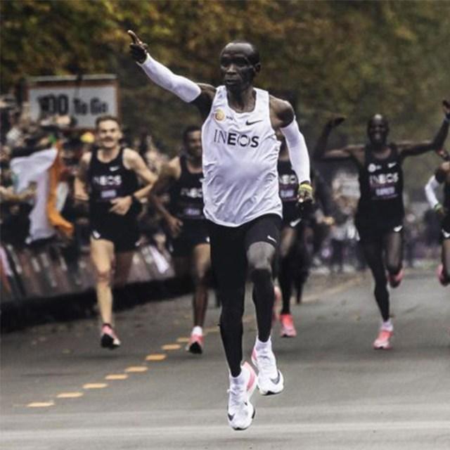 Behind Eliud Kipchoge's Record Run