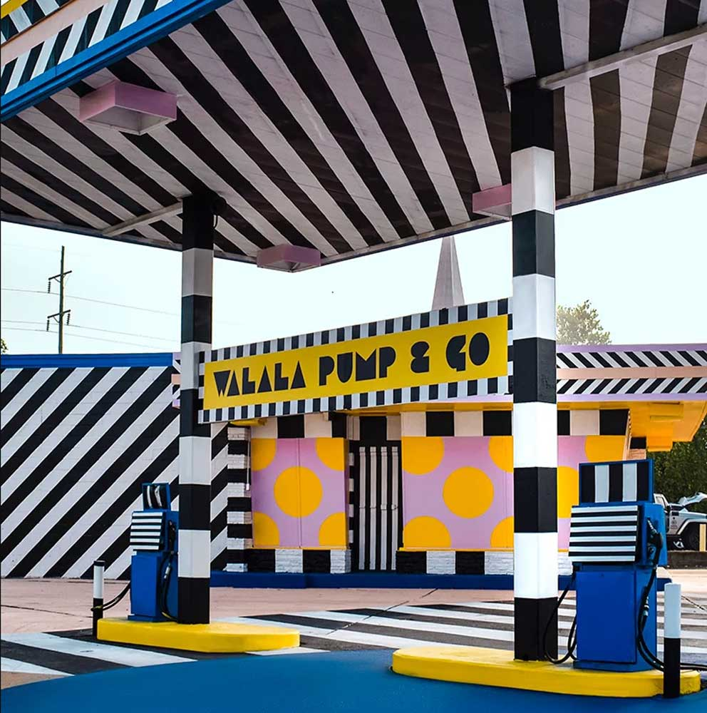 Justkids + Camille Walala's Colorful Gas Station