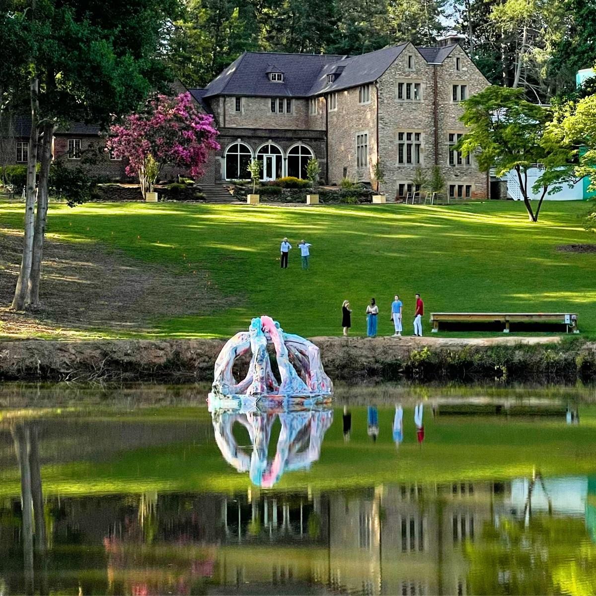 "Artist Jillian Mayer's ""Life-Saving"" Lake Sculpture at SECCA"