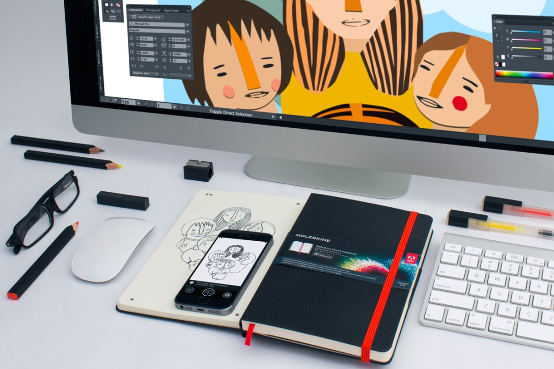 Adobe Creative Cloud + Moleskine Smart Notebook