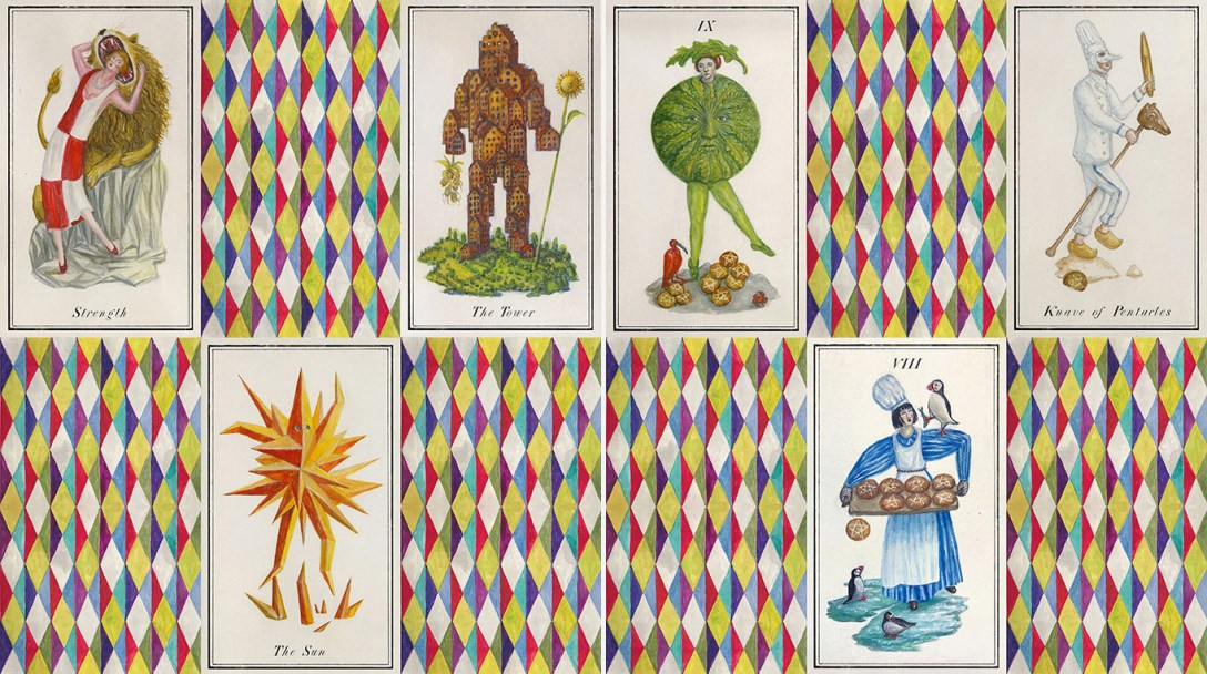 """Artist Duo Kahn + Selesnick's Carnival at the """"End of World"""" Tarot"""
