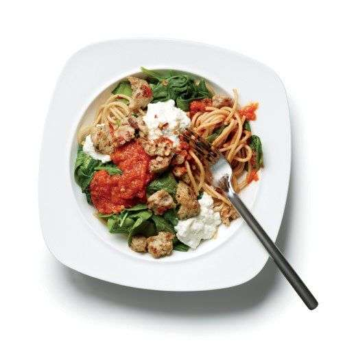 26. Frango com sopa de brócolis com queijo