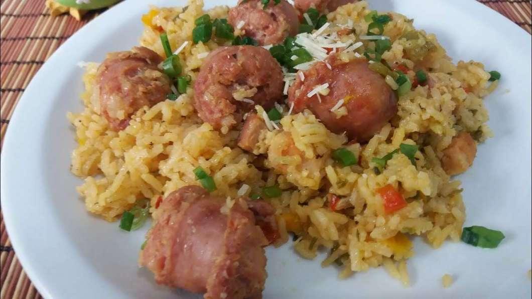 Arroz com Linguiça Toscana deliciosa para Almoço