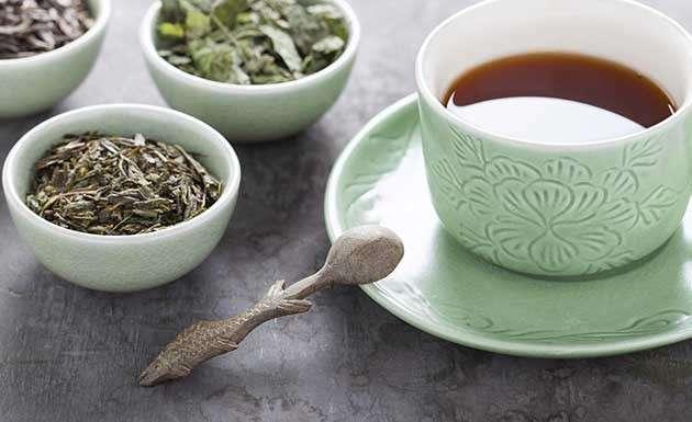 Chá de sene, hortelã e limão