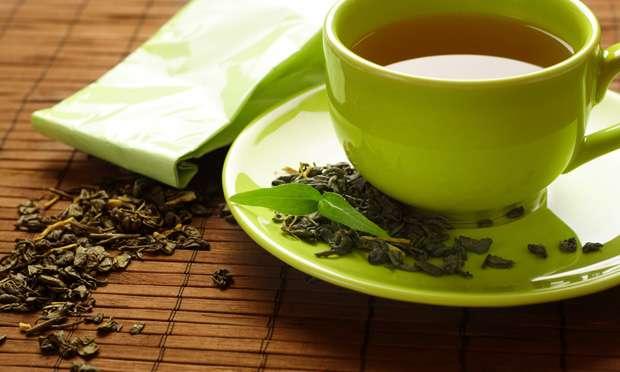 Chá verde seca barriga