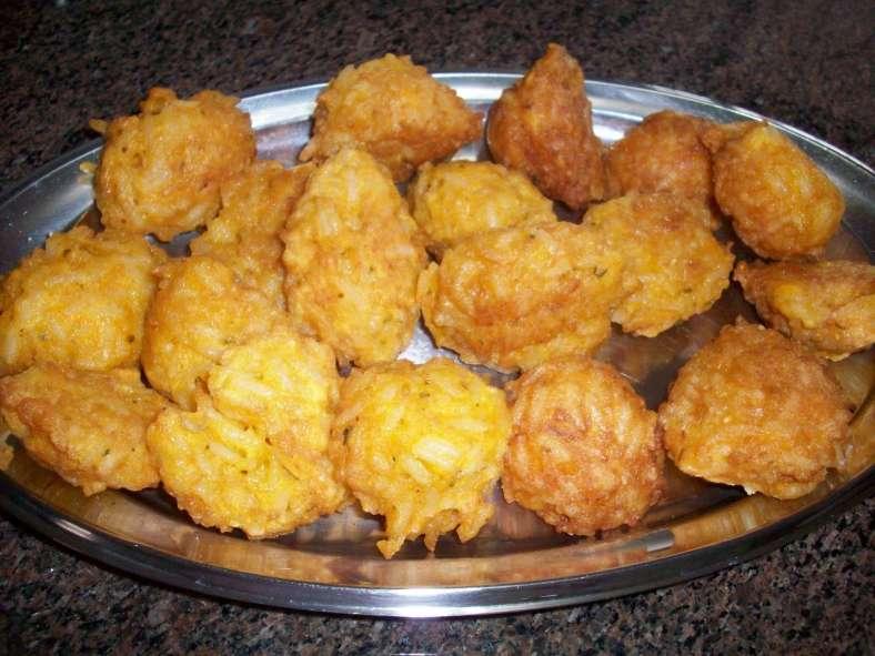 Receita de Bolinho de arroz tradicional