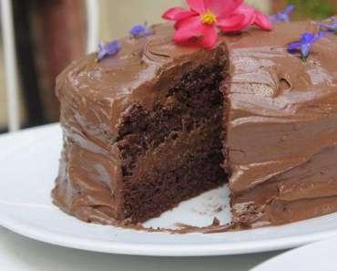 Receita de Bolo de Chocolate da Nigella com Cobertura de Chocolate Meio Amargo