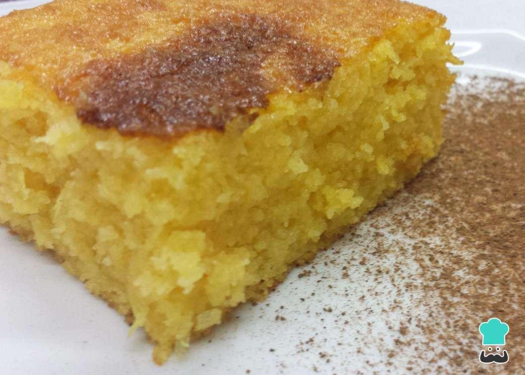 Receita de Bolo de milho cremoso com milharina no Liquidificador