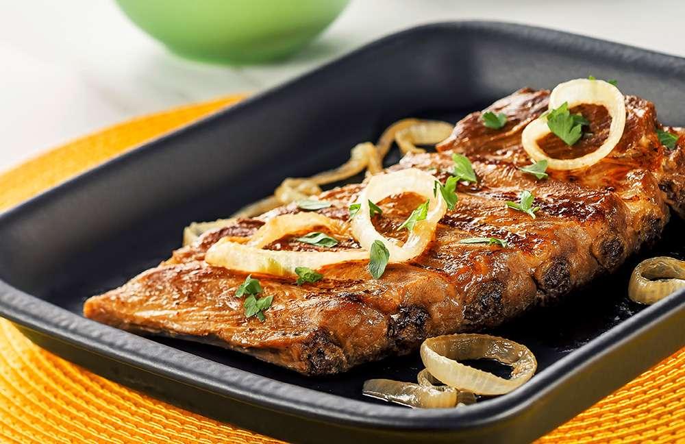 Receita de Costelinha de porco marinada na cachaça