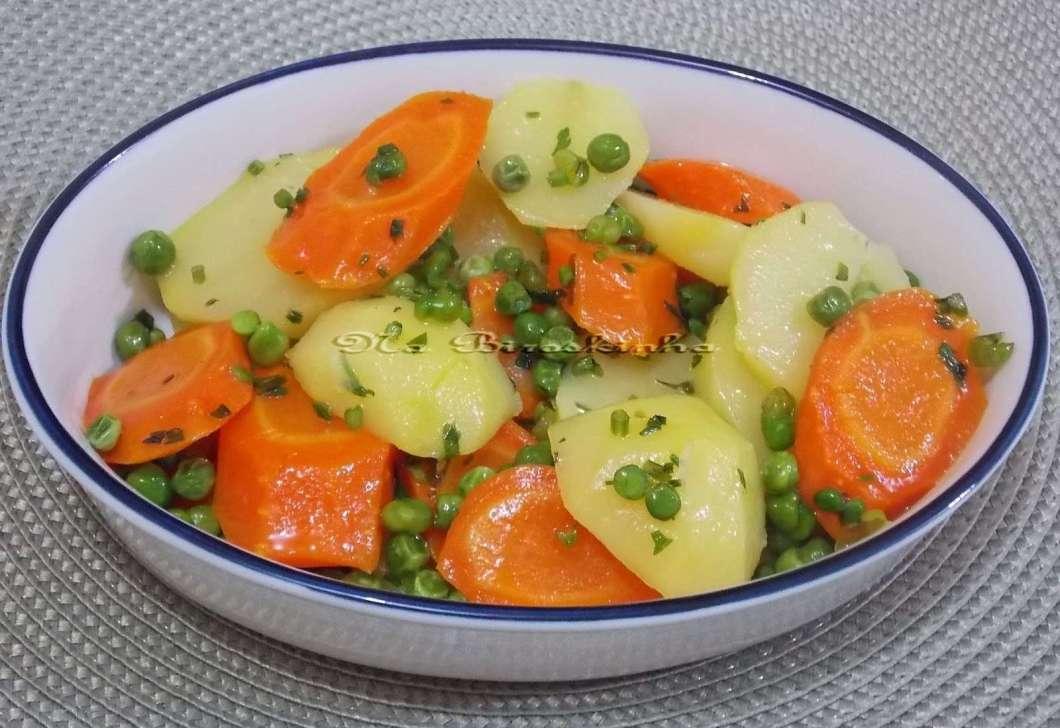 Receita de Legumes na Manteiga para almoço Saudável