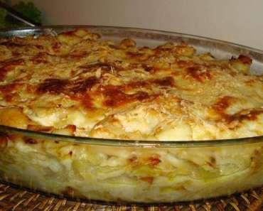 Receita deliciosa de Bacalhau com natas para domingo cReceita deliciosa de Bacalhau com natas para domingo com Famíliaom Família
