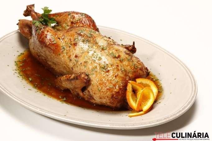 Pato corado com geleia de marmelo no Forno