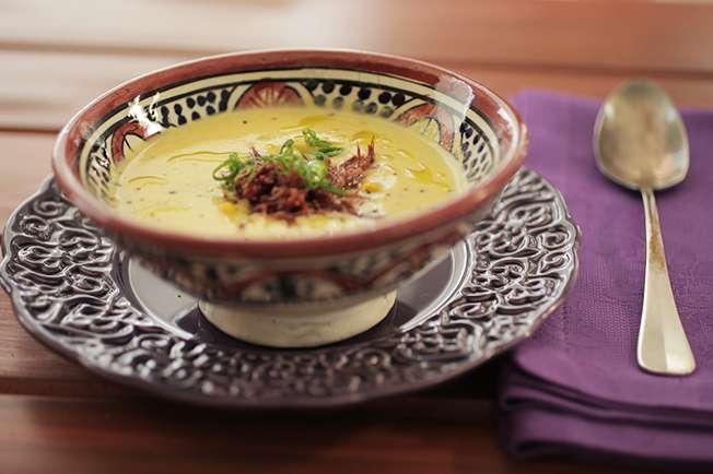 Receita de Sopa de Milho com Carne Seca