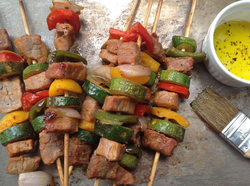Receita de espetinho de carne para forno