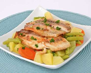 Receita de peixe grelhado com legumes