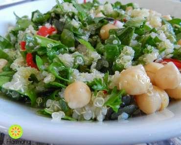 Receita de salada de quinoa e grão de bico