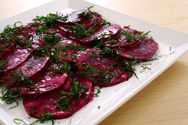 Receita de Salada de beterraba com tahine