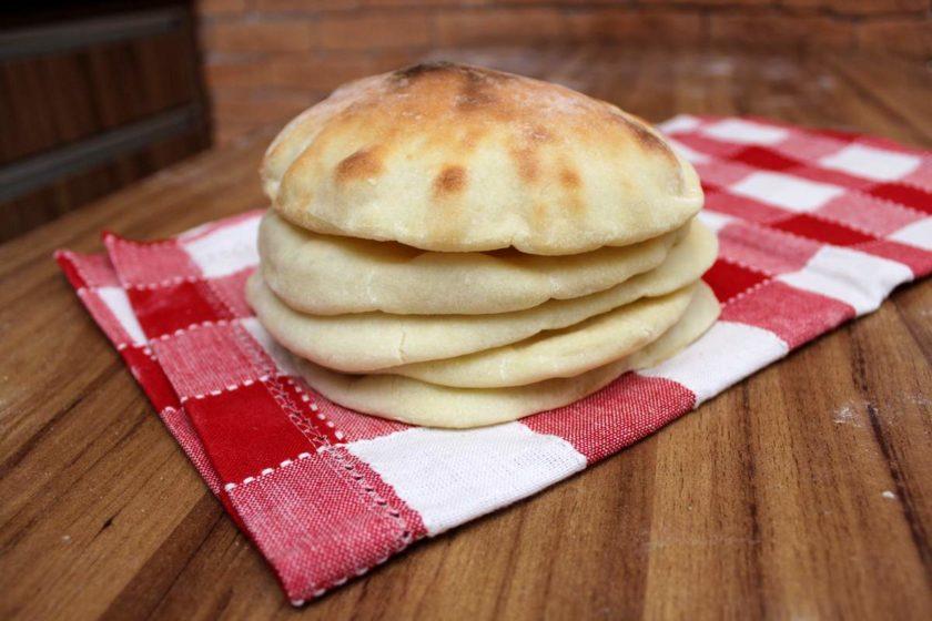 Receita de Pão sírio integral de frigideira