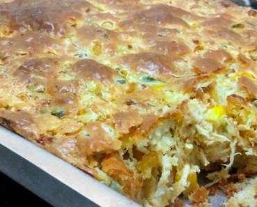 Receita de Torta de frango de liquidificador Fácil