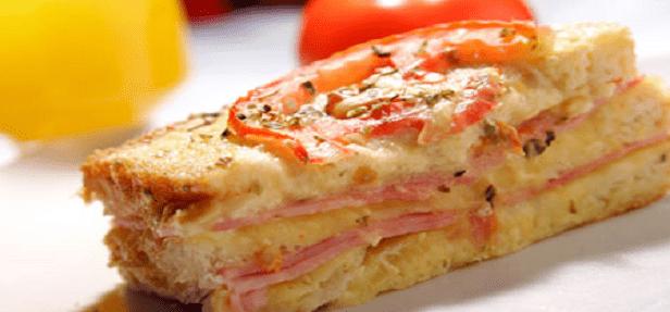 Receita de Torta de pão de forma com purê de batata