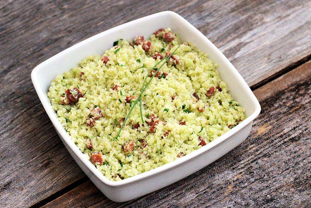Receita de arroz de couve-flor Leve e Saboroso