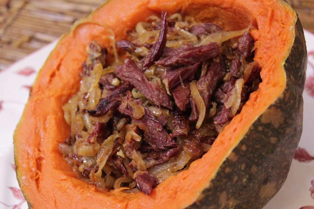 Receita de Carne seca com abóbora Edu Guedes