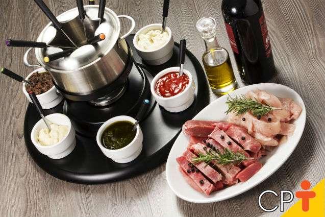 Receita de Fondue de Carne Ao Vinho sem Gordura