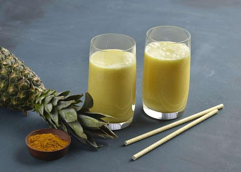 Receita de Suco de Abacaxi Simples