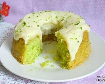 Receita de Bolo verde de limão