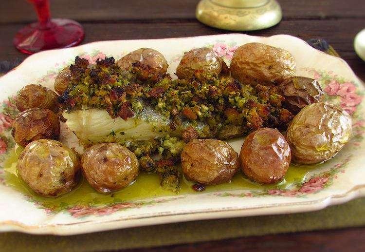 Receita de Bacalhau com broa de milho
