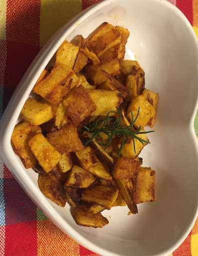 Receita de Batata doce com alho e páprica Fácil