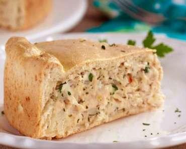 Receita de Torta de frango e requeijão Português