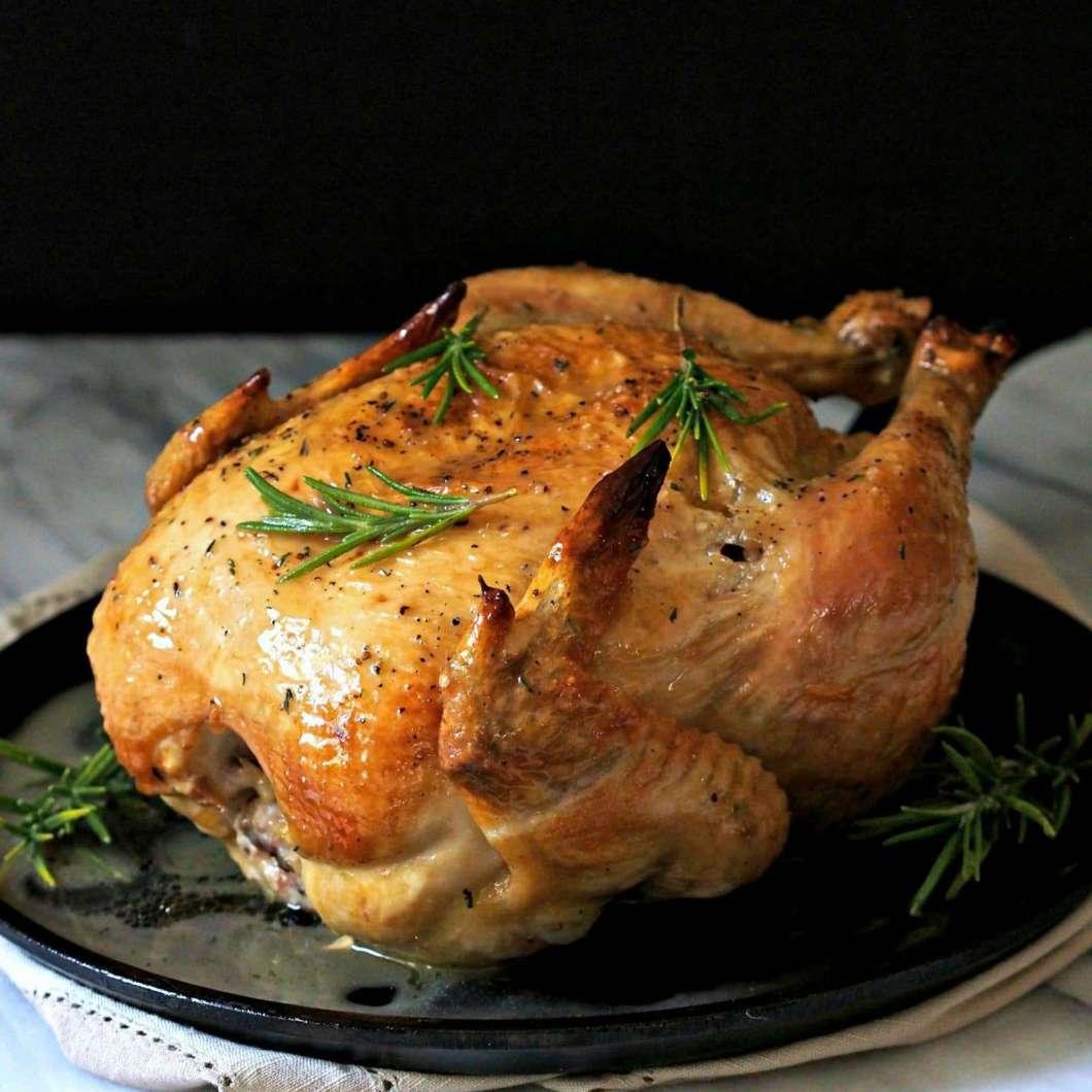 Receita de Frango assado no forno e suculento