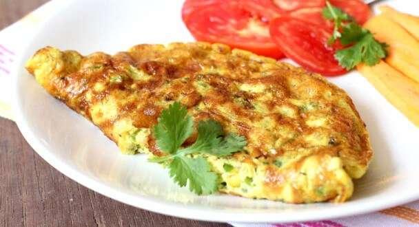 Receita de Omelete de forno com carne e pimentão