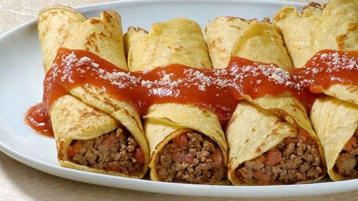 Receita de Panquecas de carne Gostosa Caseira