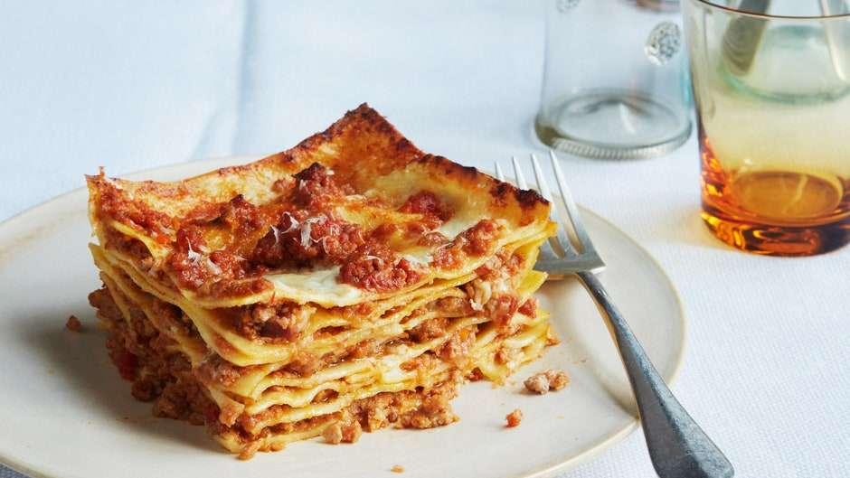 Receita de Lasanha à Bolonhesa Italiana