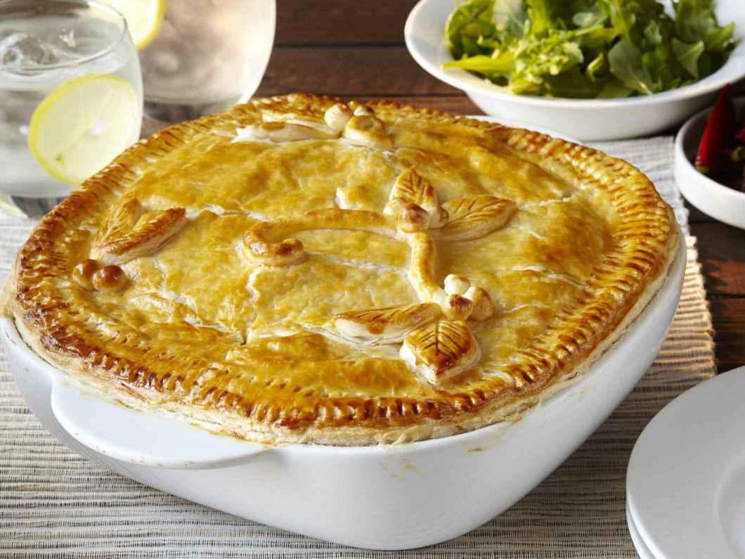Receita de Torta de frango com catupiry e massa Podre