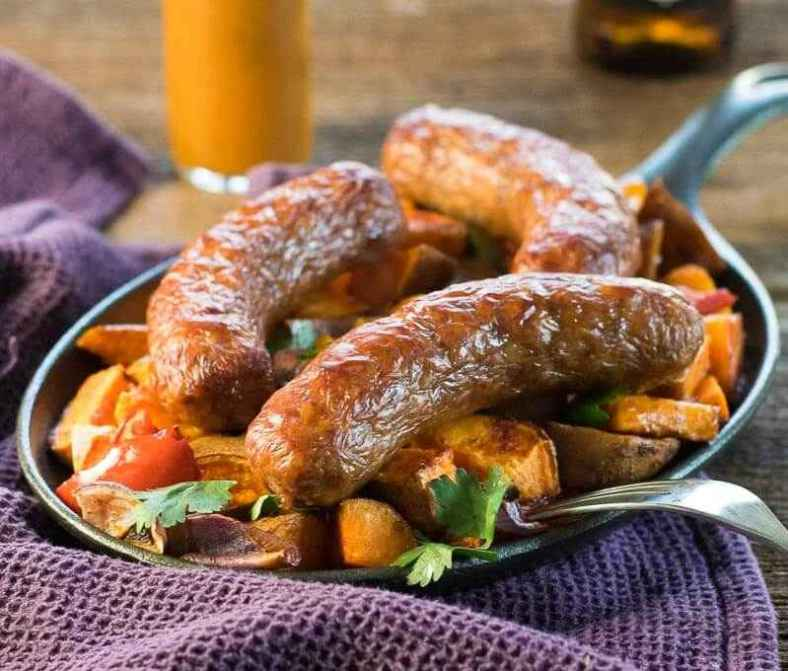 Receita de Linguiça toscana com batata no forno
