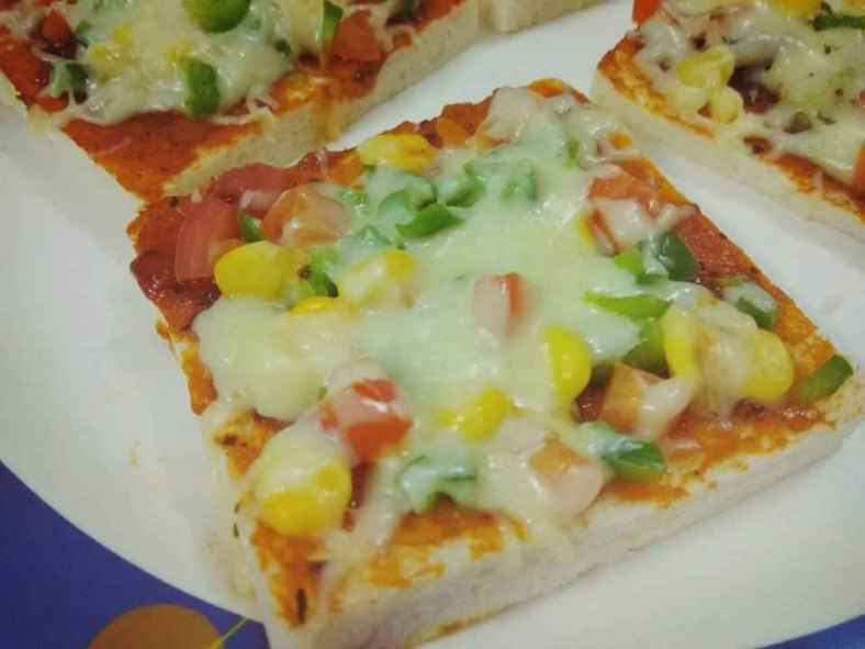 Receita de Pizza de Pão de Forma sem casca