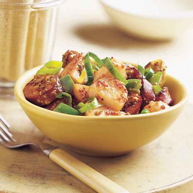 Receita de Salada de Batata com Salsicha Gostosa