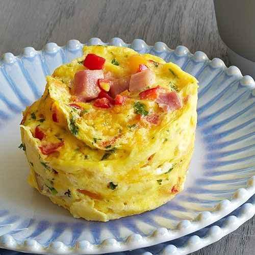 Receita de omelete de microondas Tradicional