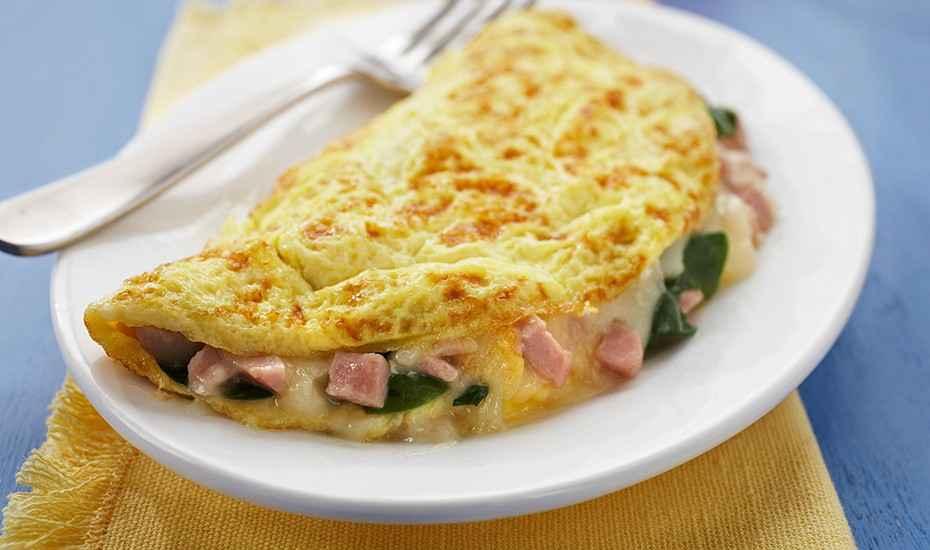 Receita de omelete de microondas da Vovô