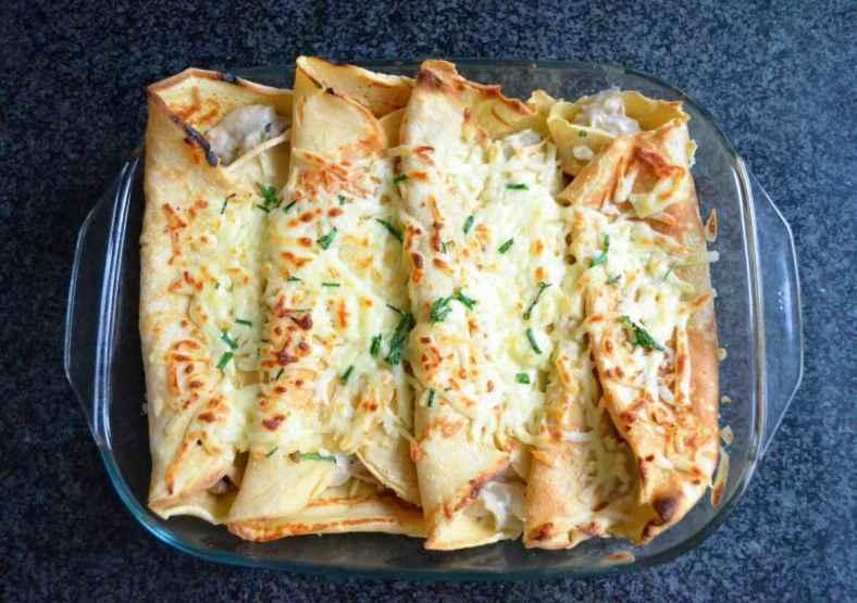 Janta rápida e Fácil de Panqueca de Frango