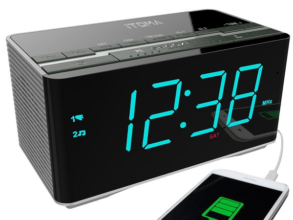 Digital Music Alarm Clock Wake Cool Ideas Home