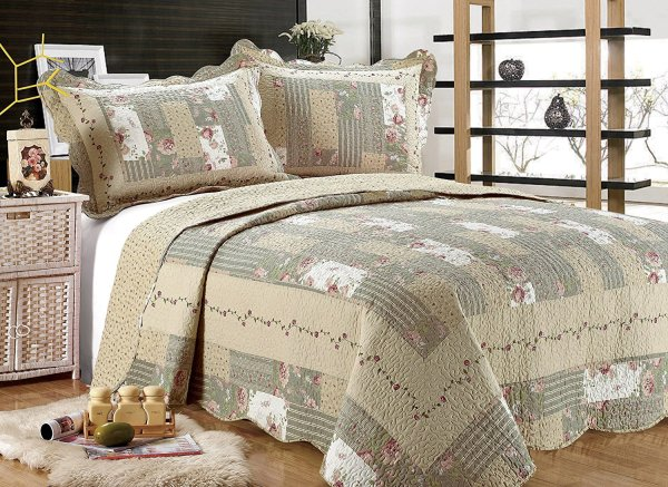Sage Green Bedspreads and Quilts