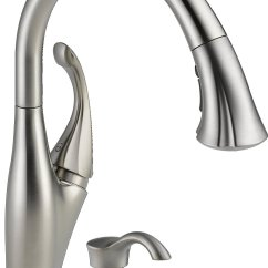 Delta Savile Stainless 1 Handle Pull Down Kitchen Faucet Heavy Duty Shears Addison 9192t Sssd Dst With Single