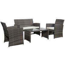 Gray Wicker Patio Furniture Set