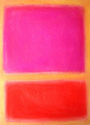 Rothko - Pink, Gold, Red
