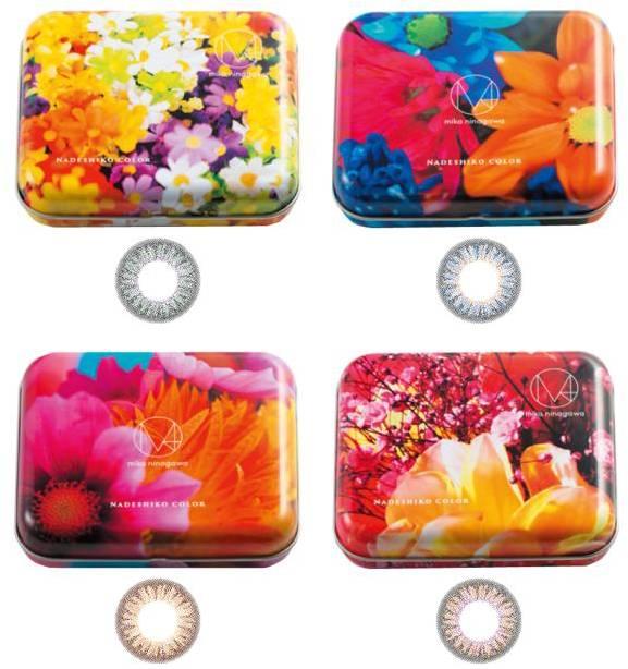 Las lentillas y los envases de lentillas «nadeshikocolor».